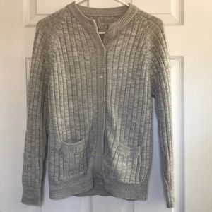 Sweaters - Gray Button Up Sweater